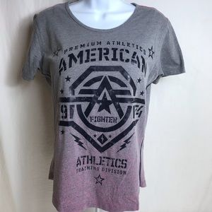 American fighter crew neck tee